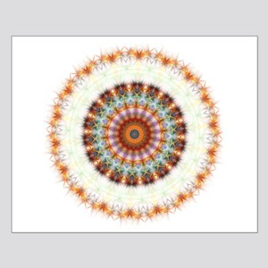 Detailed Orange Earth Mandala Small Poster